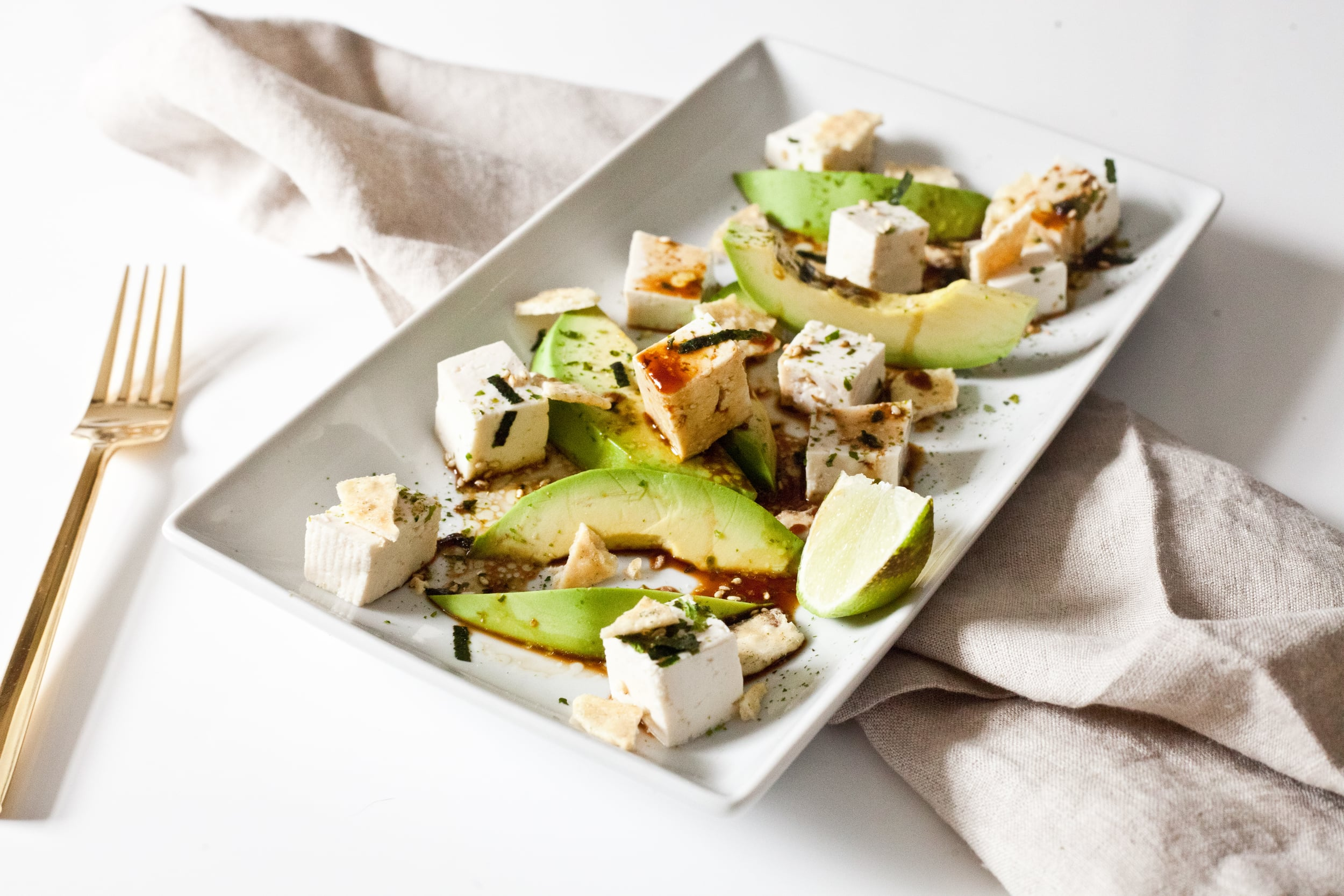 High Protein Tofu Avocado Snack