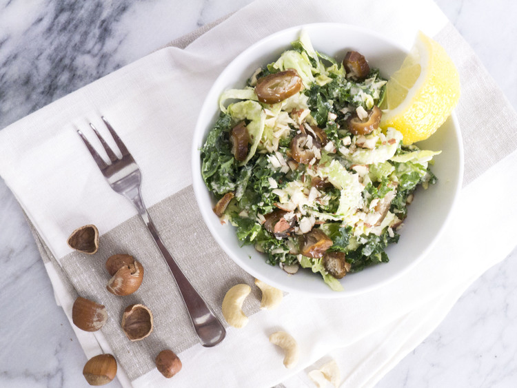 Shaved Sprout Salad with Cashew Cream