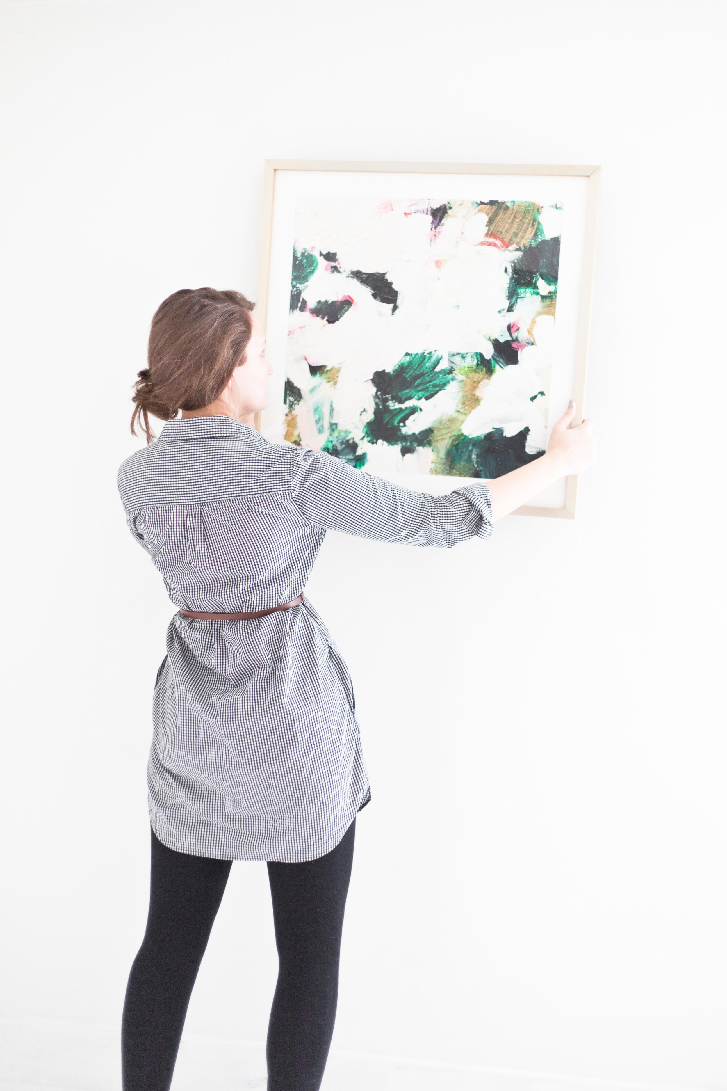 minimalist master bedroom redo, black and white and emerald