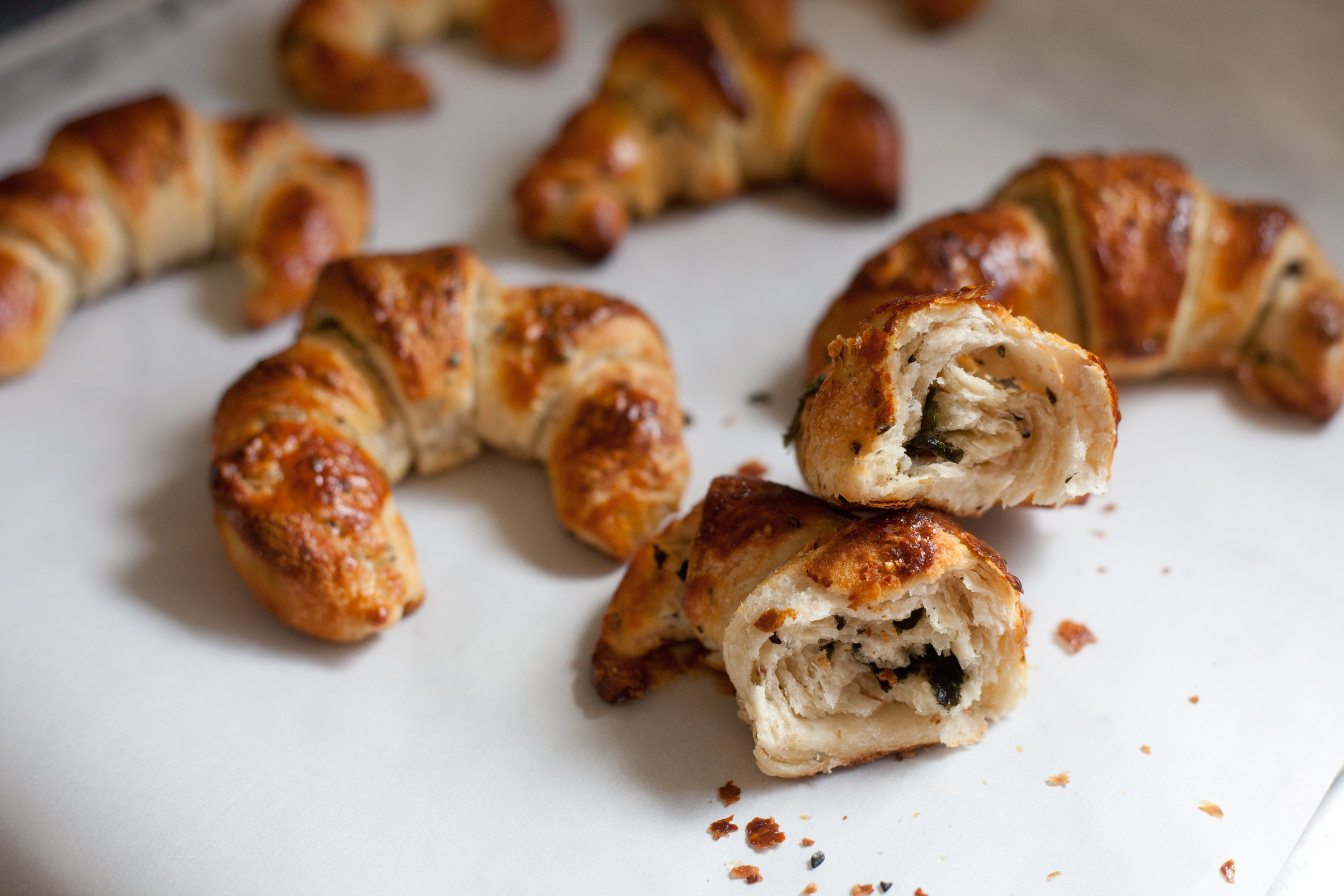 Japanese Croissants with Nori and Sesame Seeds