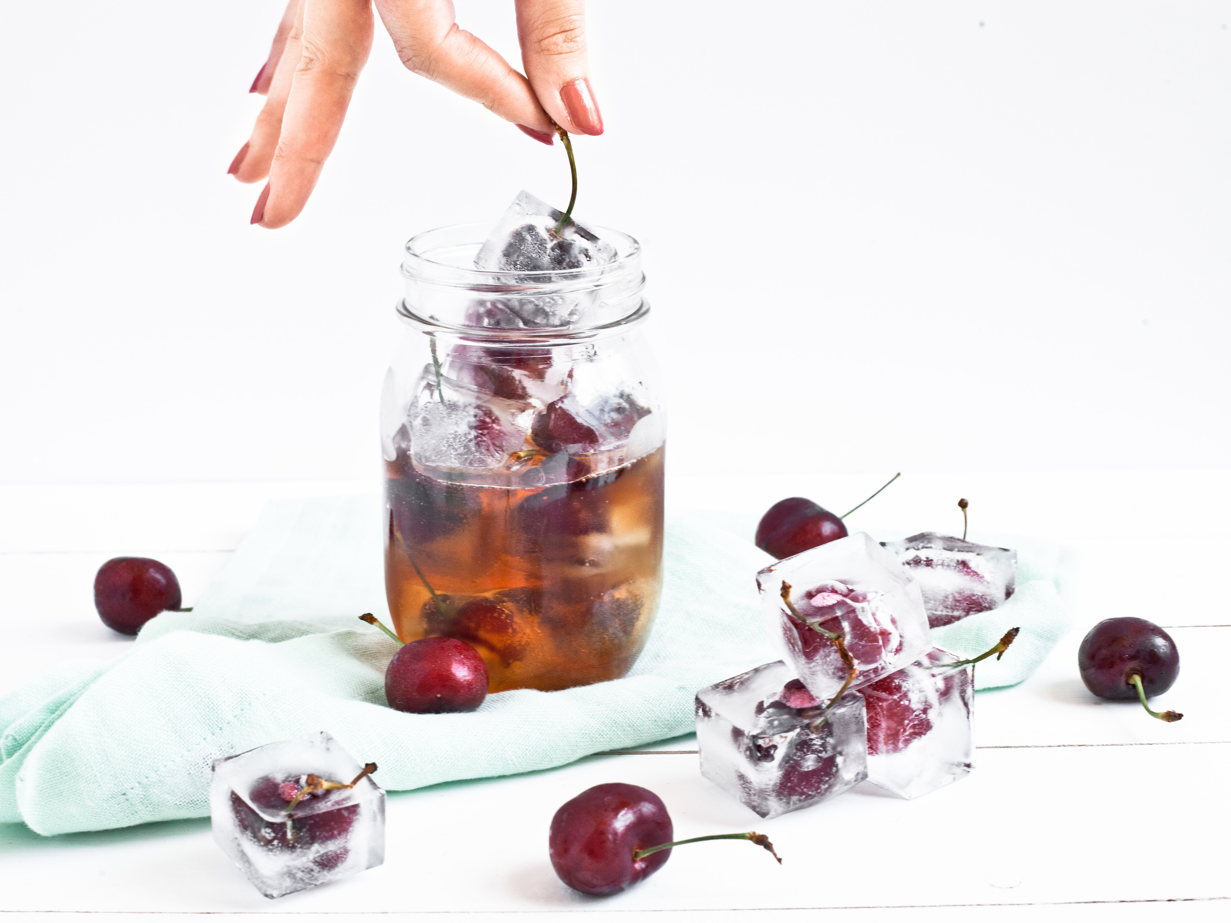 Food Network Feature: Creative Ice 'Cubes', cherry stems