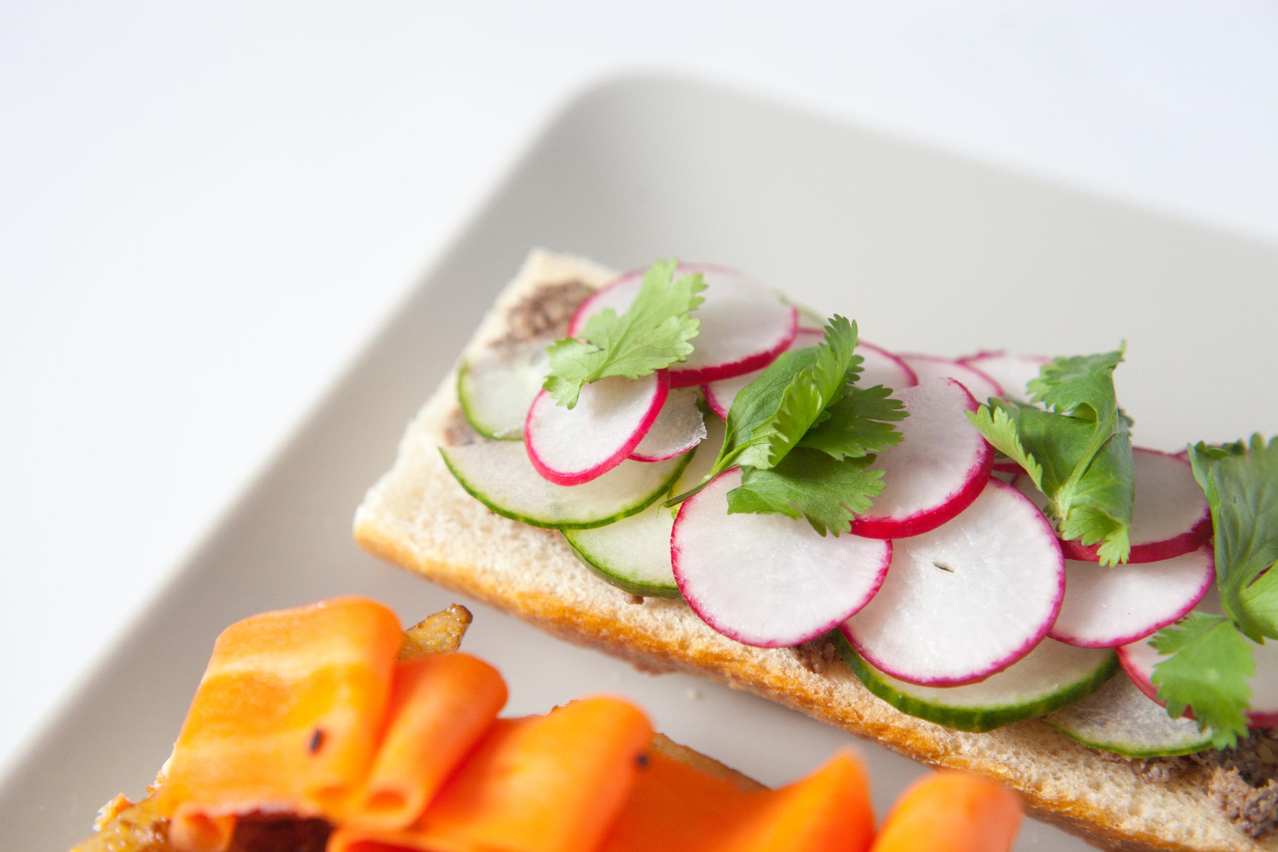 Vegetable Polenta Bahn Mi Sandwich