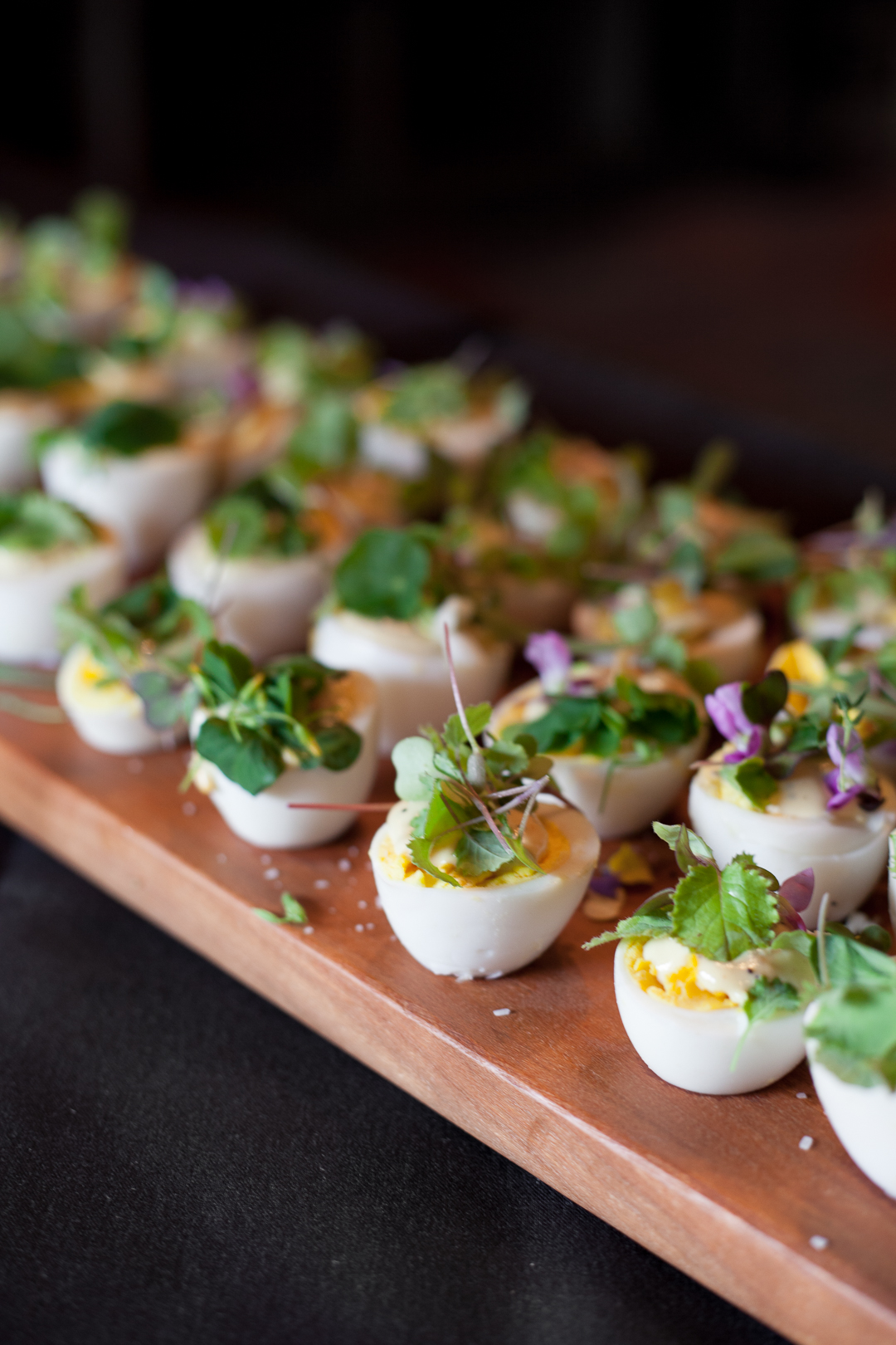 deconstructed deviled eggs with marigold aioli - Virginia women in food dinner