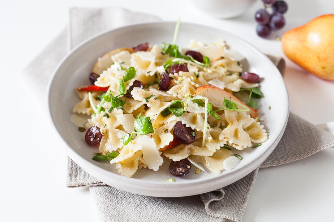Fall Farfalle Pear and Pecorino Pasta Salad