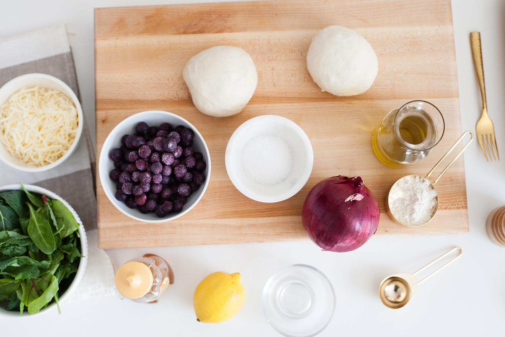 Blueberry Salad Flatbread Recipe