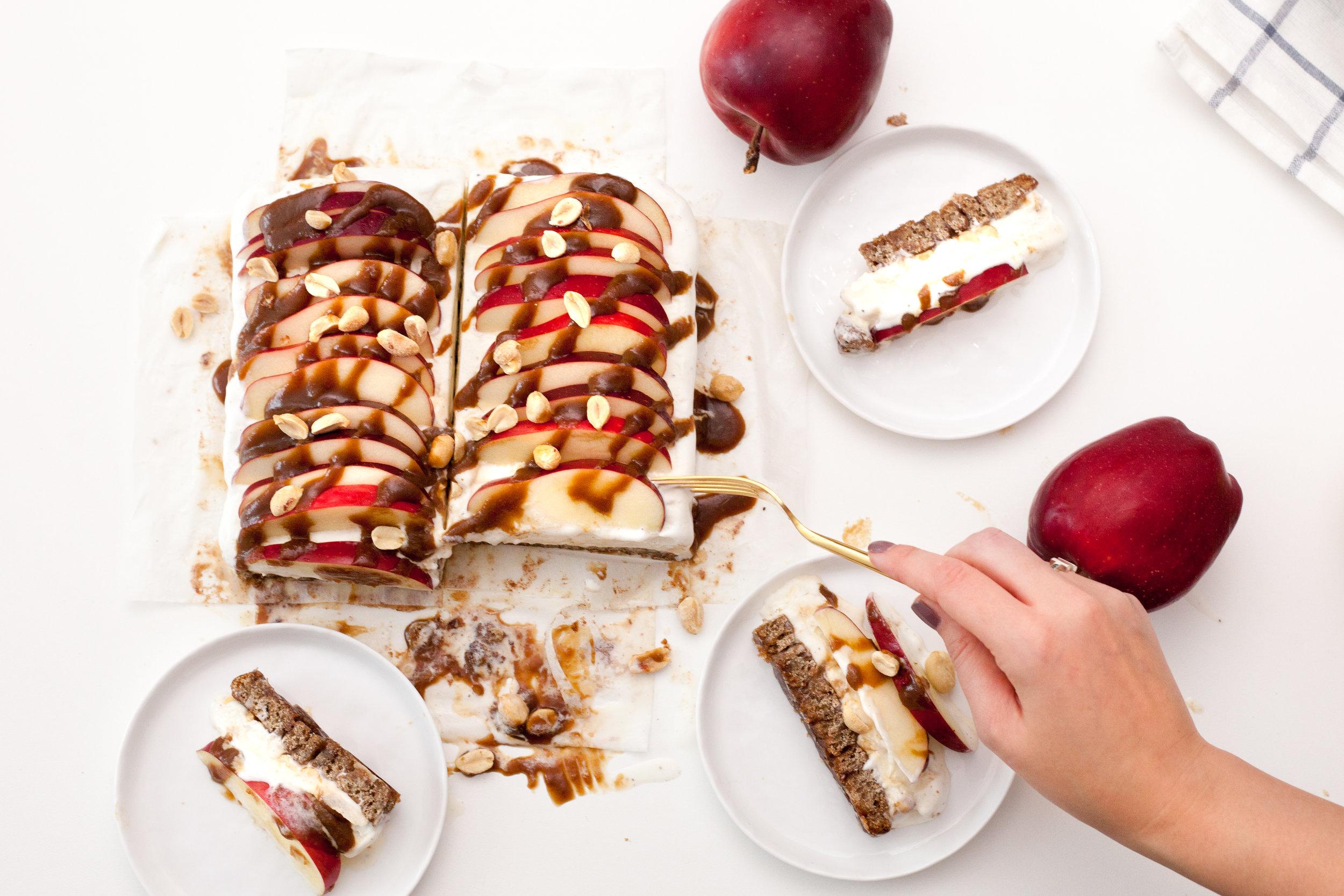 Buckwheat Apple Cinnamon Roll Ice Cream Cake
