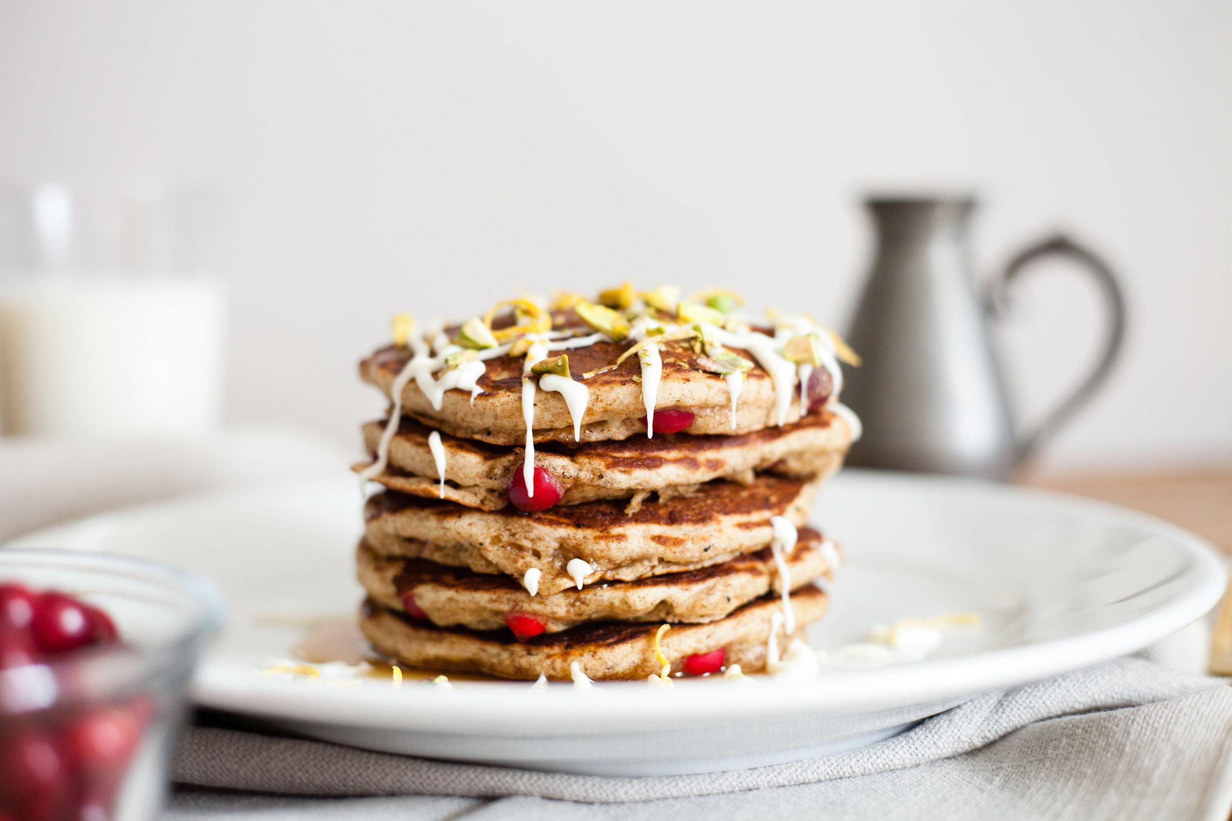 Whole Wheat Cranberry Pancakes