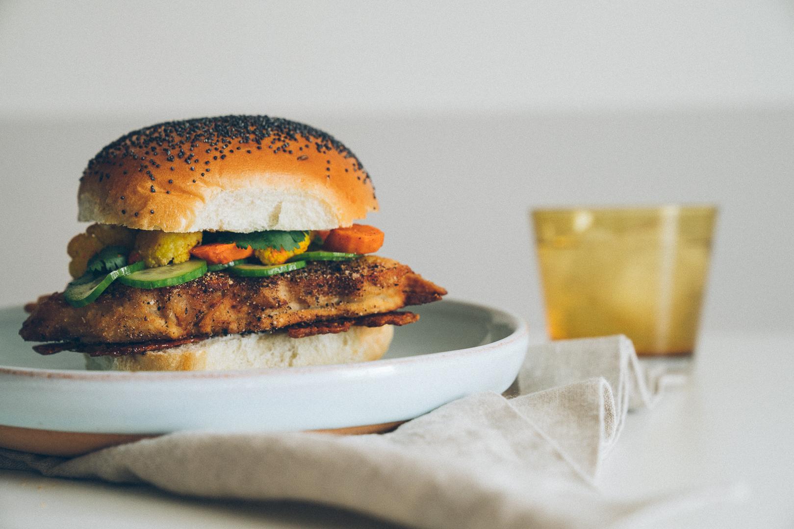 Curry Fried Turkey Sandwich