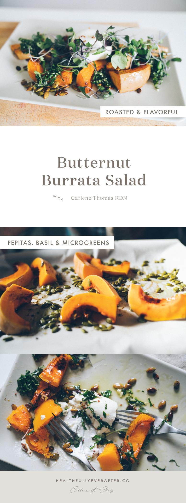 Late November 2016 Menu butternut squash burrata salad