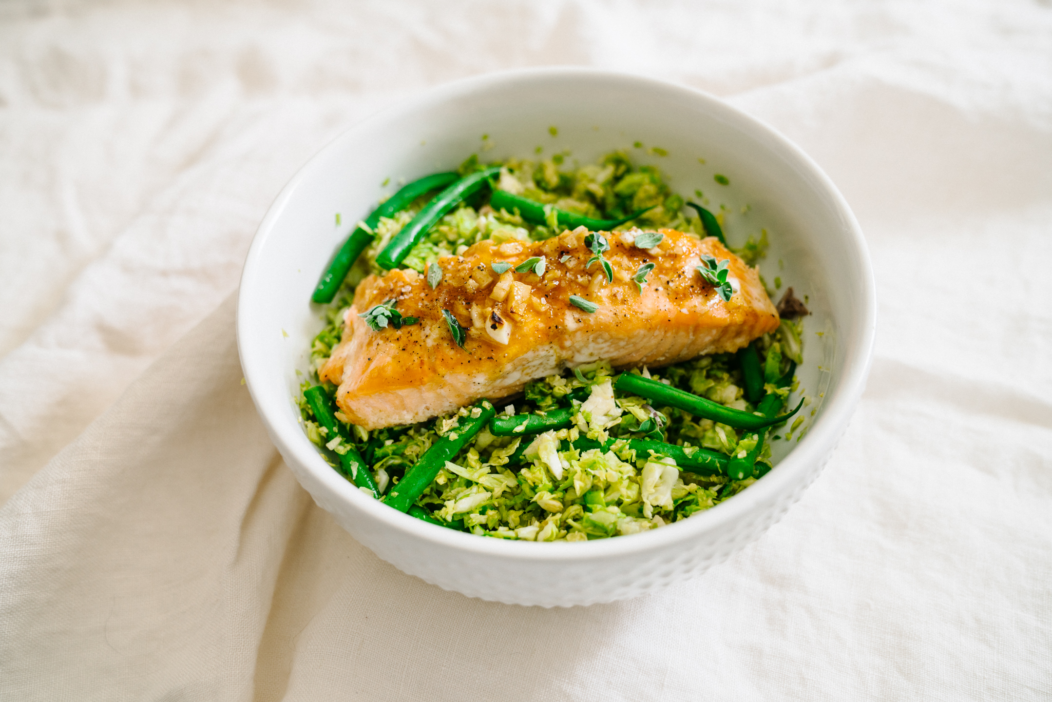 cuban lacquered salmon with winter salad