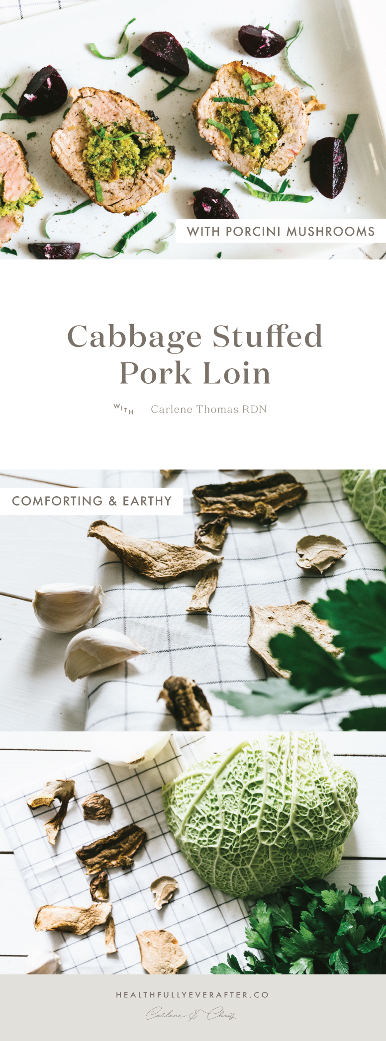 cabbage stuffed pork loin