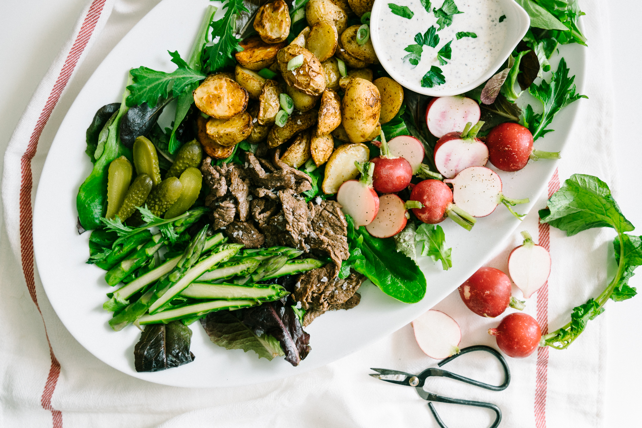 SPRING VEGETABLE AND BABY POTATO SALAD