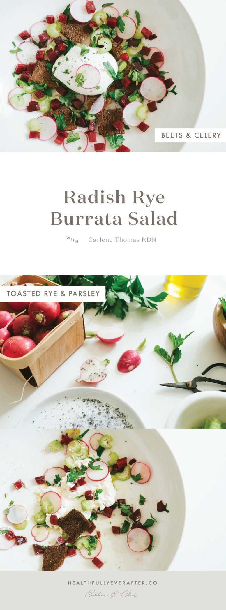 radish and rye burrata salad spring recipe