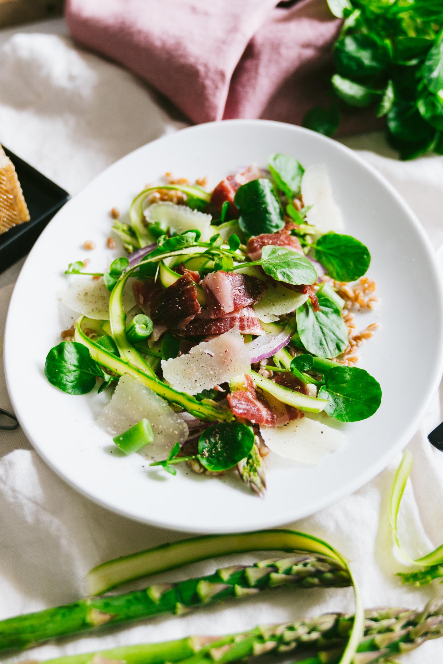 Spring Jamón ibérico Asparagus Salad