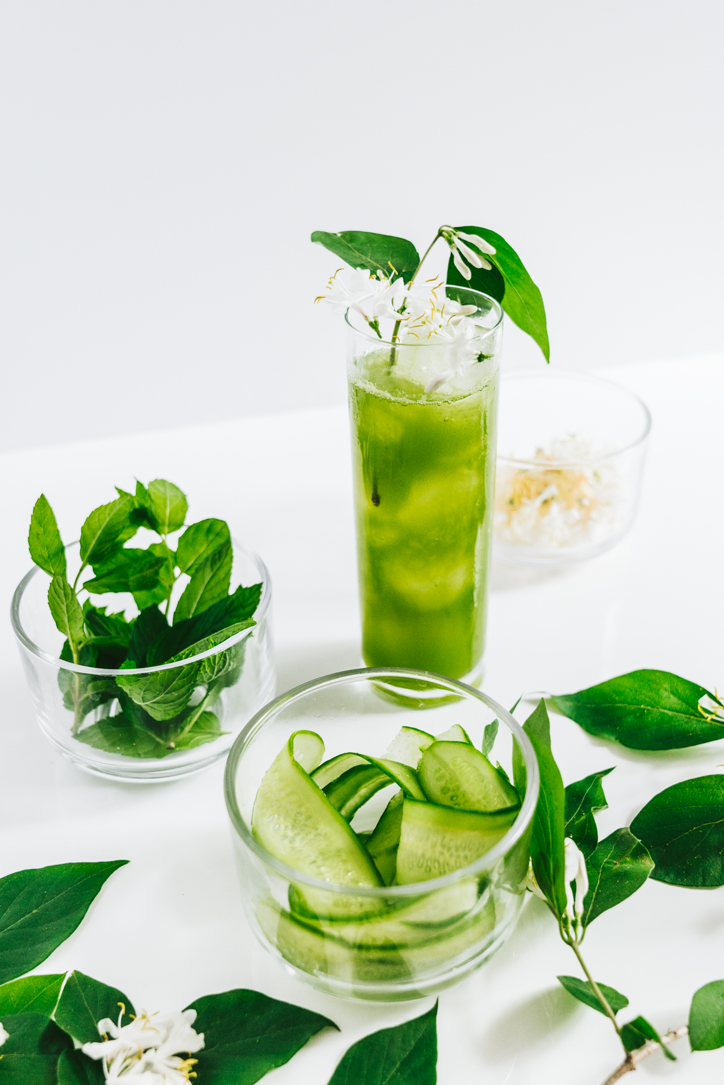 Honeysuckle Garden Green Juice Cocktail