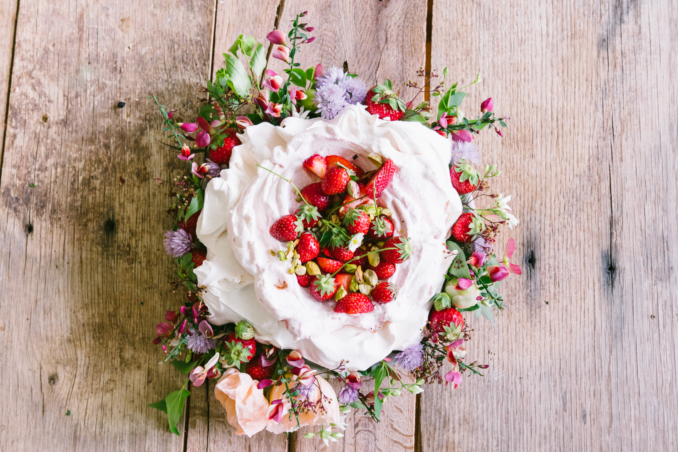Food and Flowers: May Peonies, Poppies and Strawberry Schaum Torte Recipe