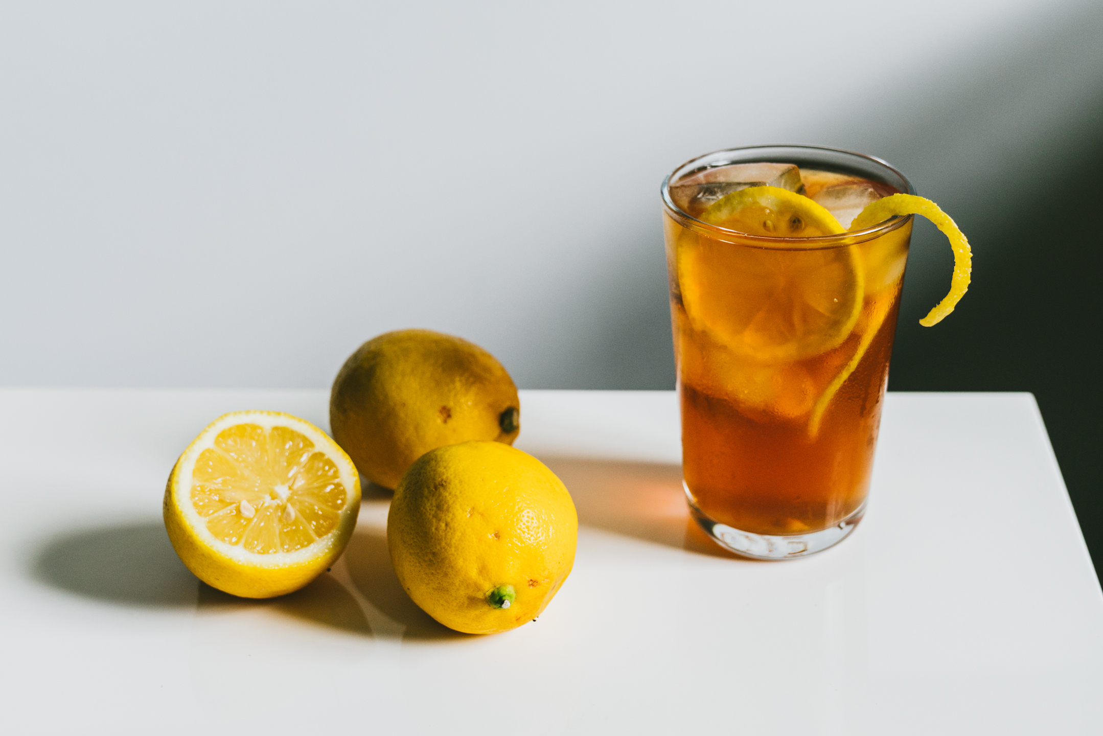 Lemon Simple Syrup Black Iced Tea Ohcarlene