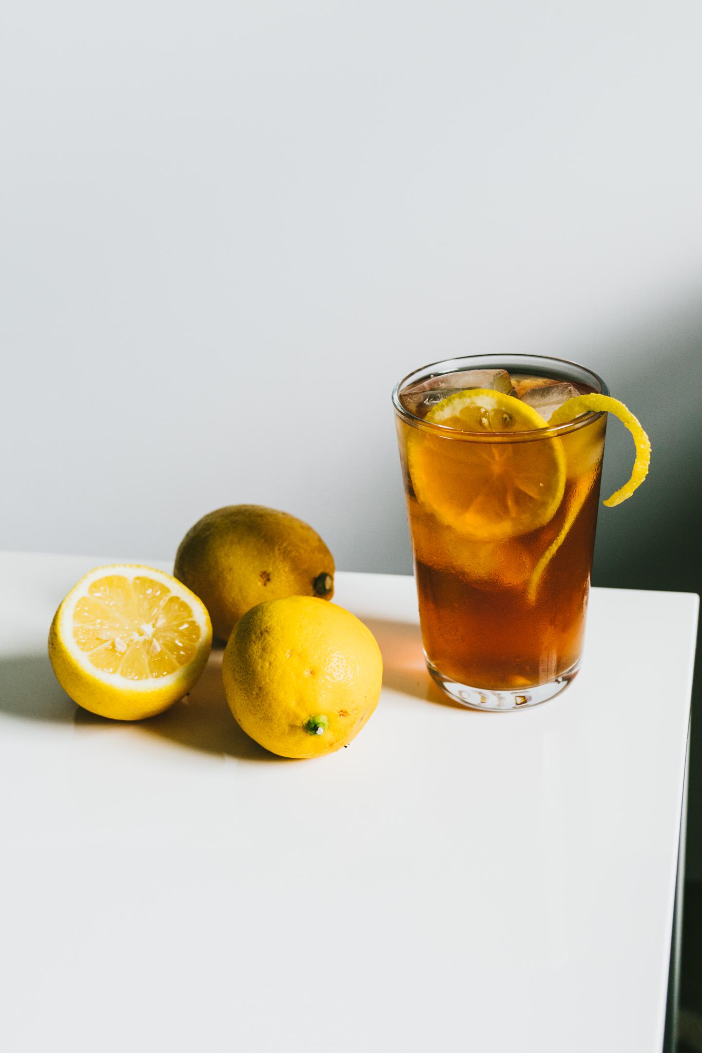 Lemon Simple Syrup Black Iced Tea