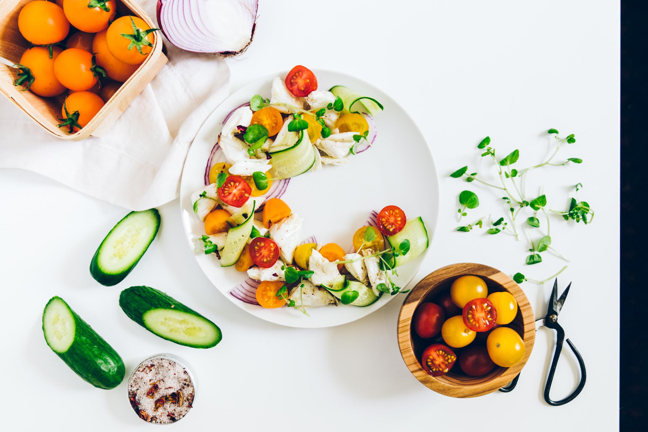 rainbow crab salad