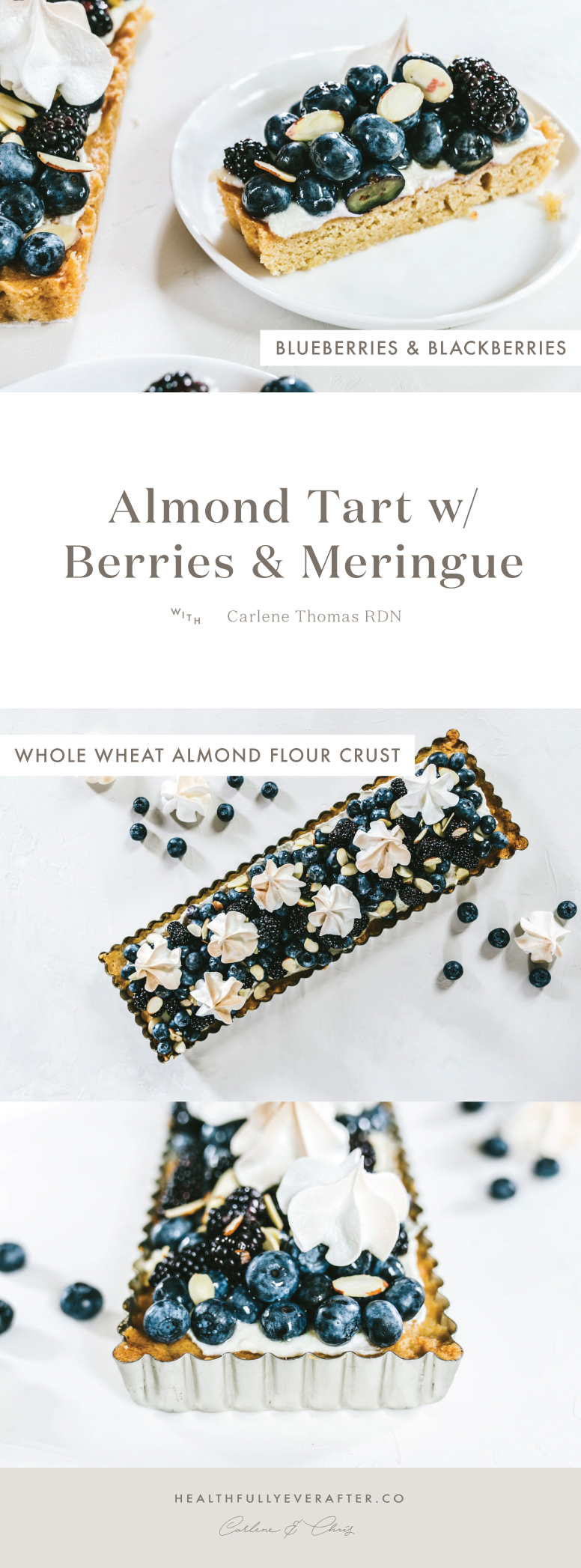 almond tart with berries