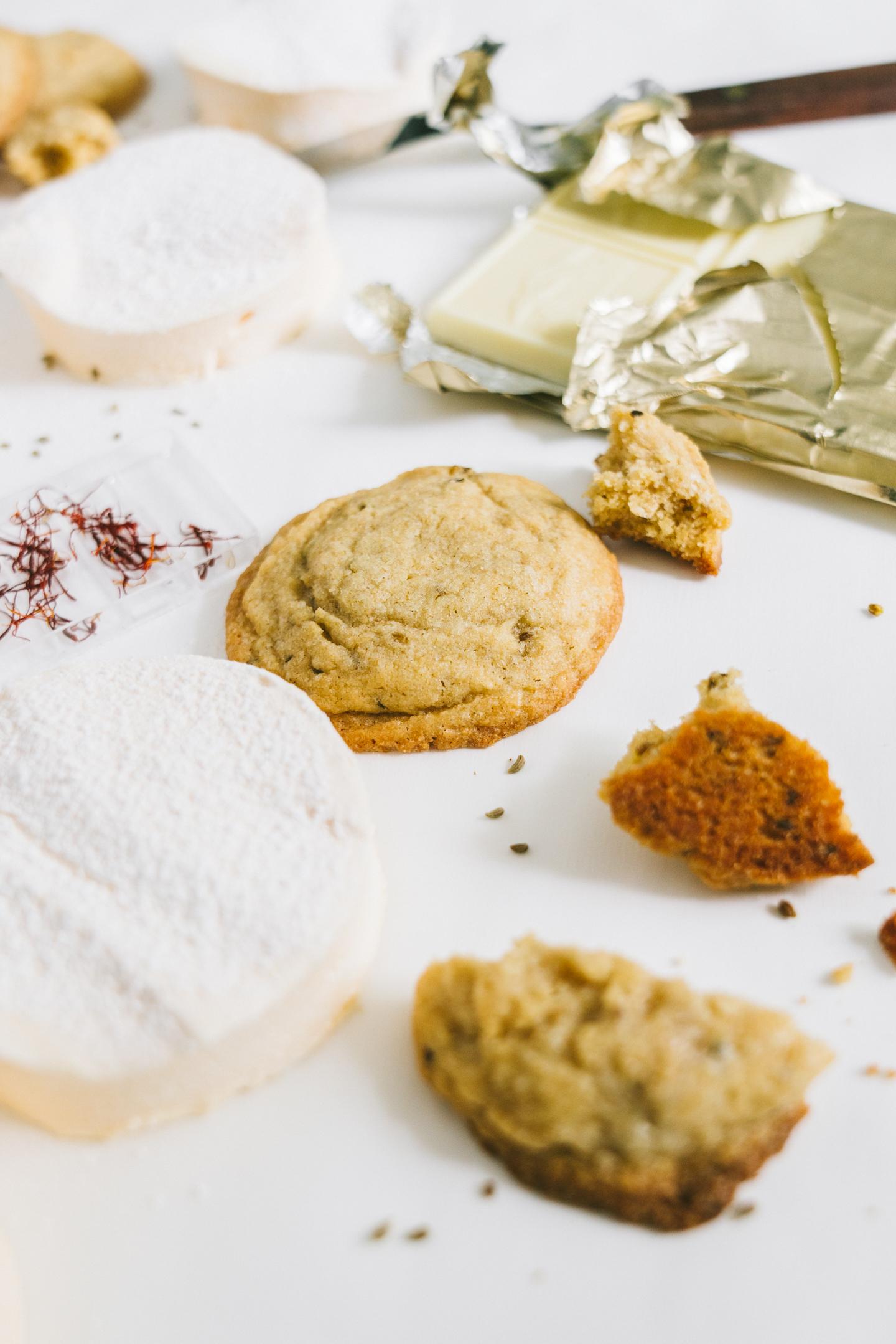 anise saffron s'more cookies