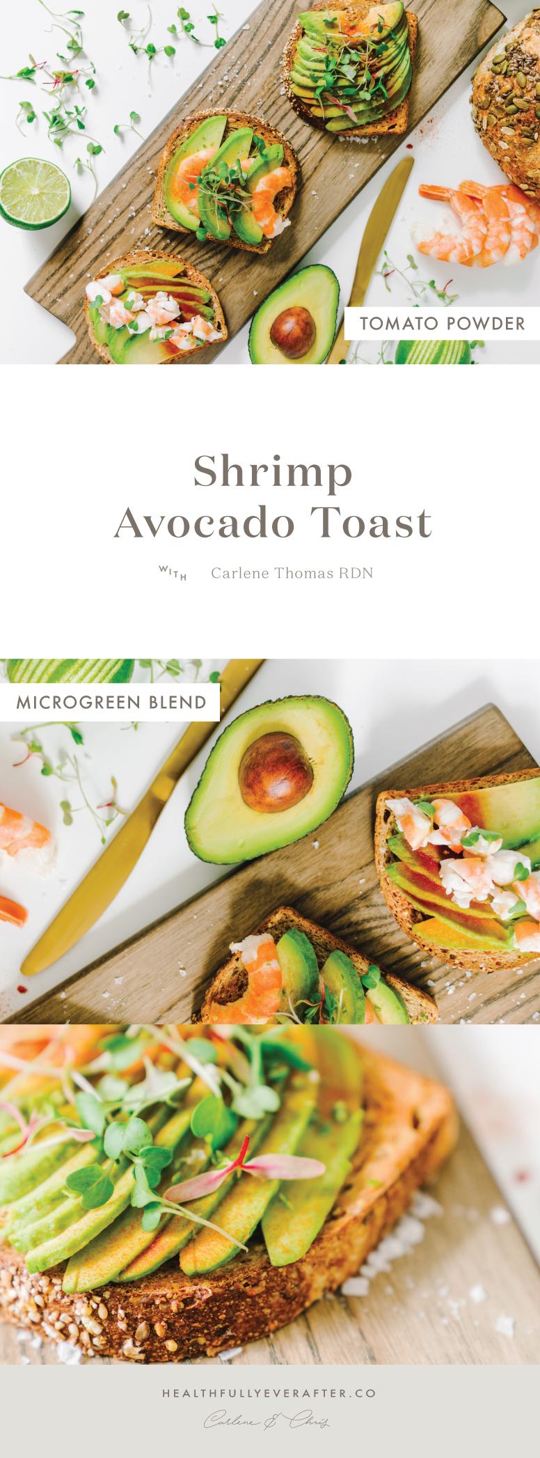 avocado shrimp toast smørrebroød