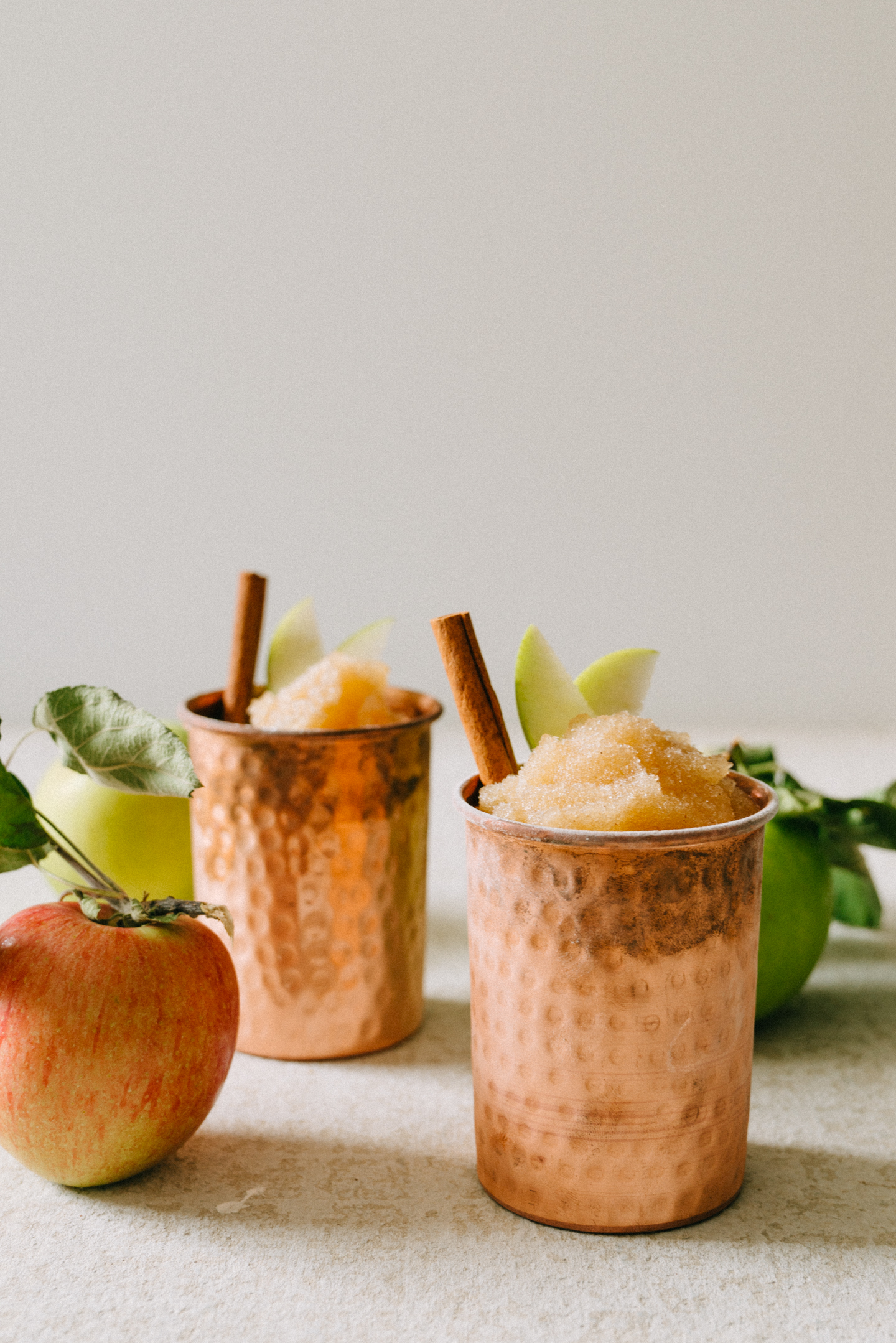 Frozen Apple Cider Slushee Cocktail