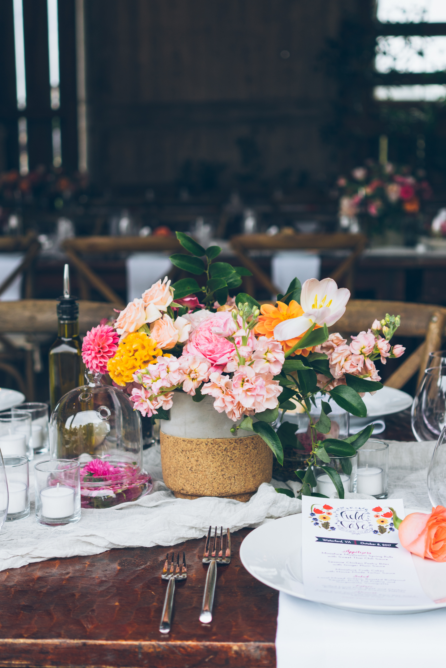 Virginia Local Flower Barn Dinner- Holly Chapple at Hope Flower Farm