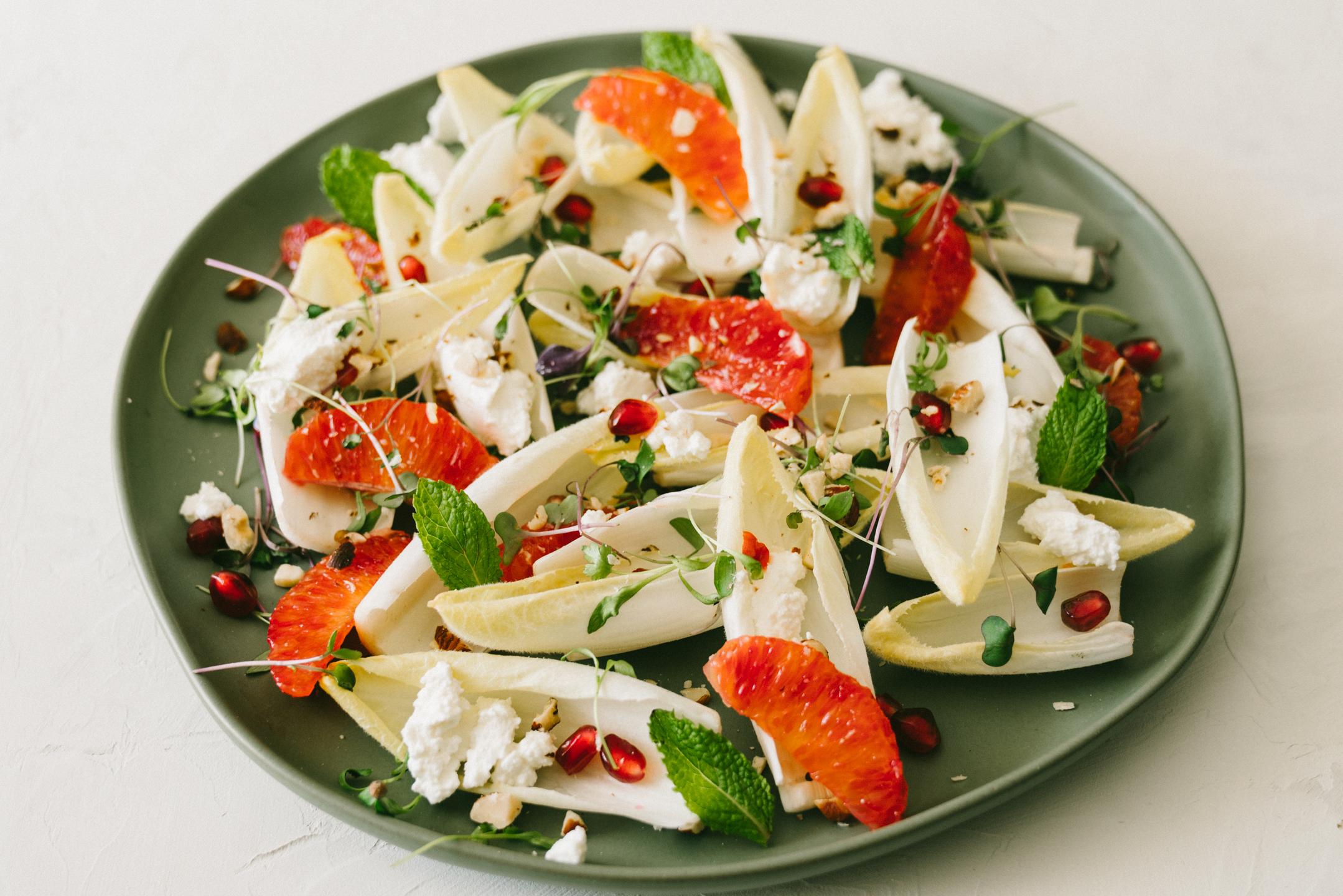 Winter Endive Blood Orange Salad