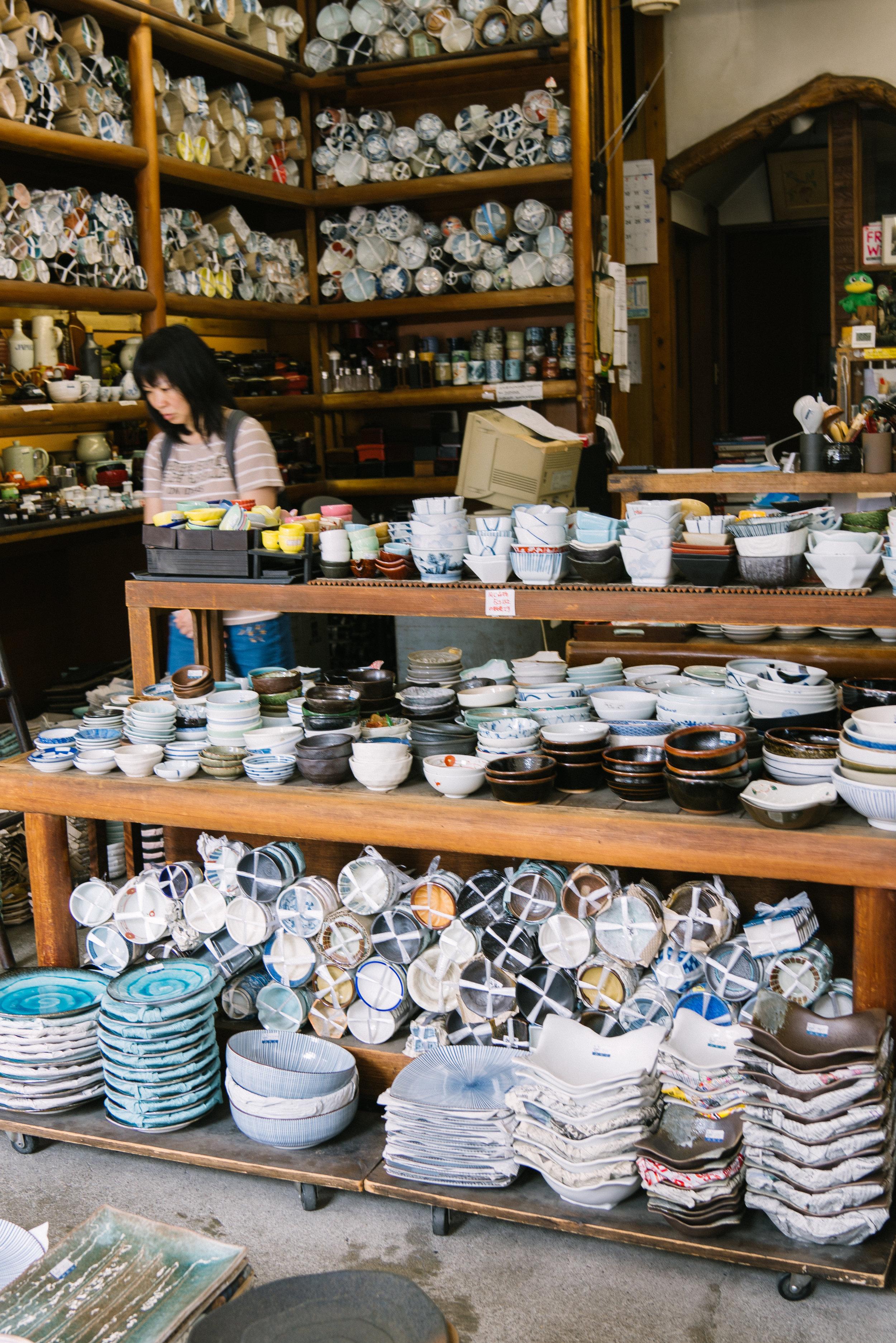 kappabashi kitchen market, tokyo japan