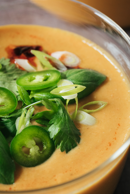 Vegan Creamy Thai Butternut Squash Soup