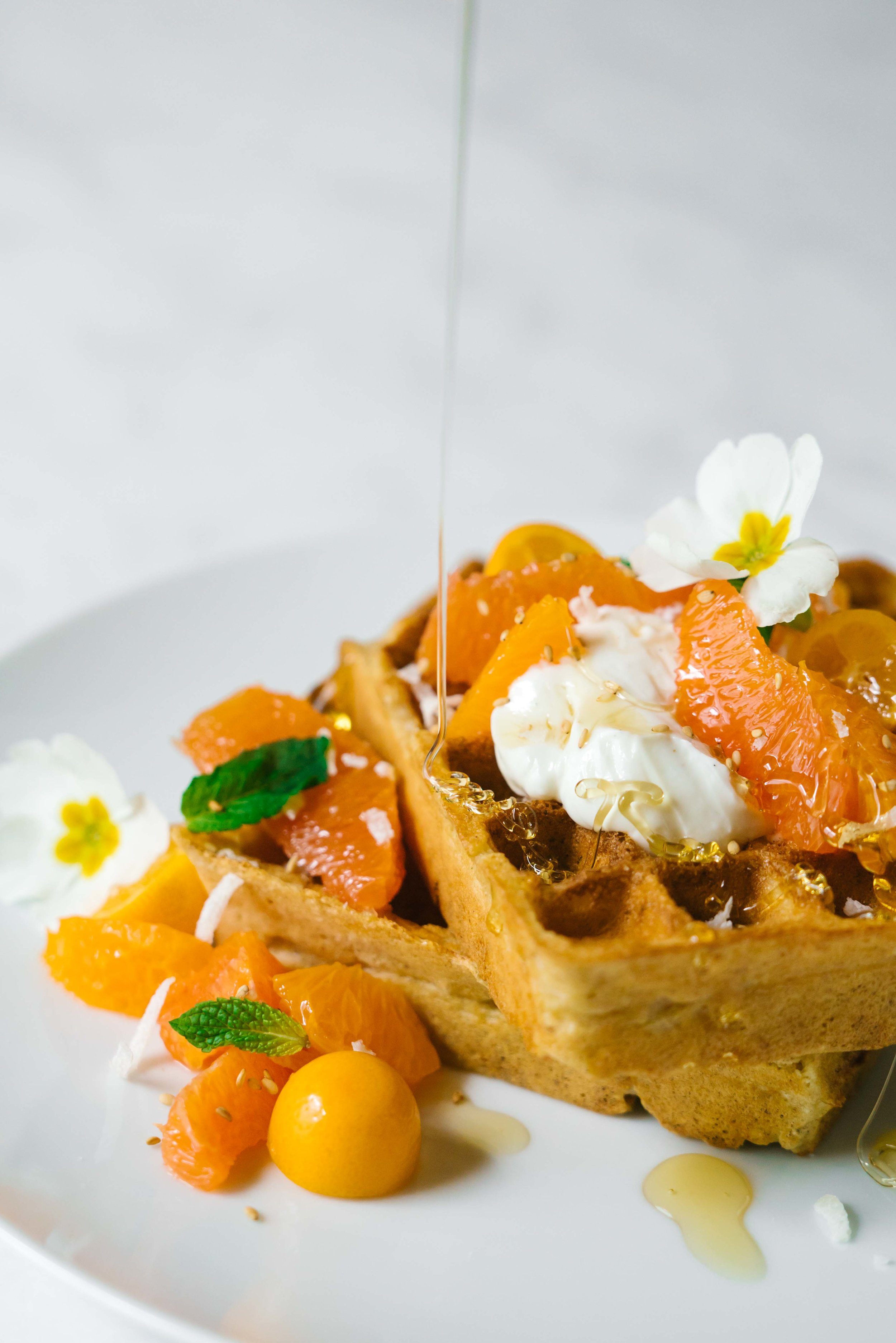 waffle recipe for winter citrus and coconut waffles