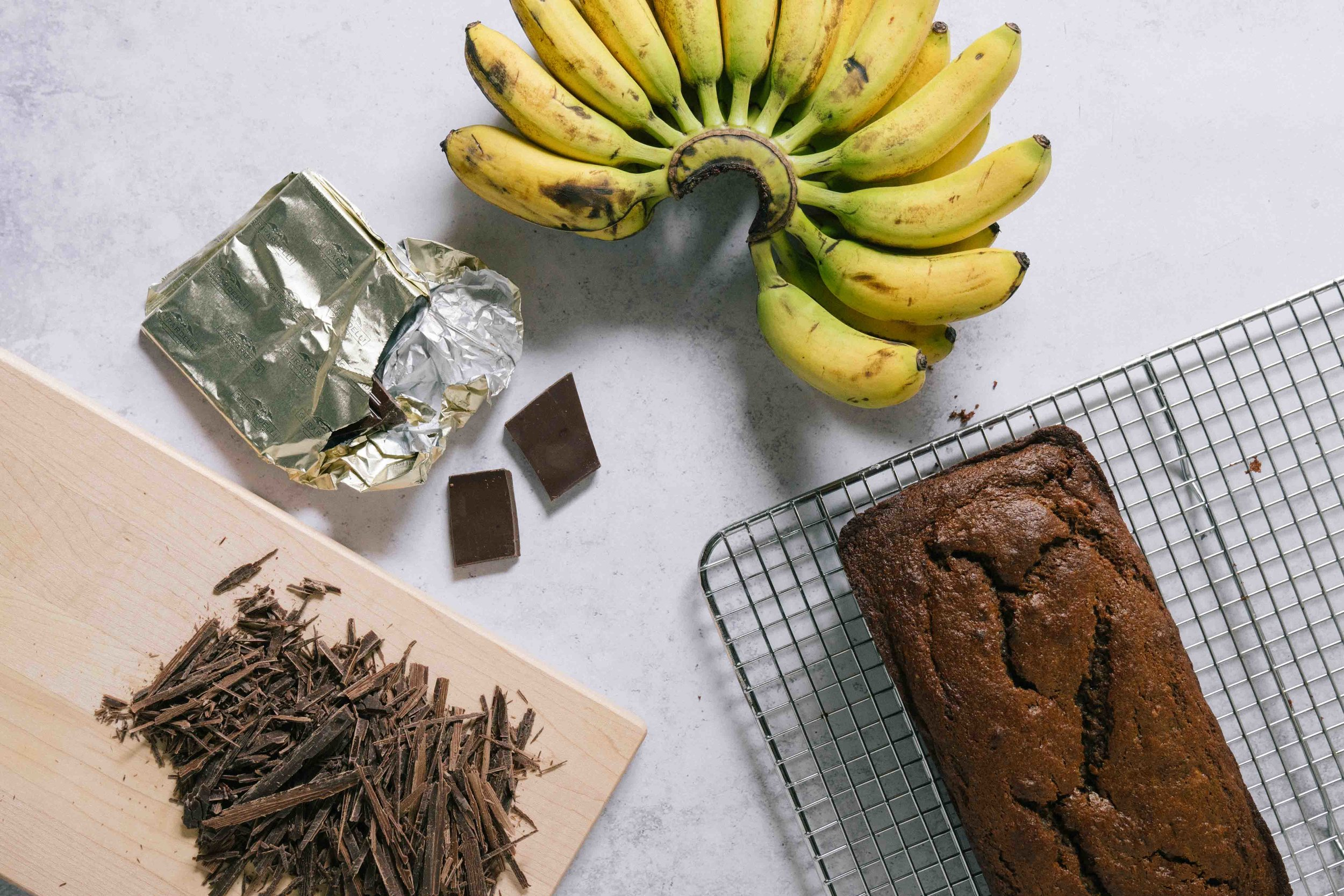 Whole Wheat Oat Flour Chocolate Banana Bread