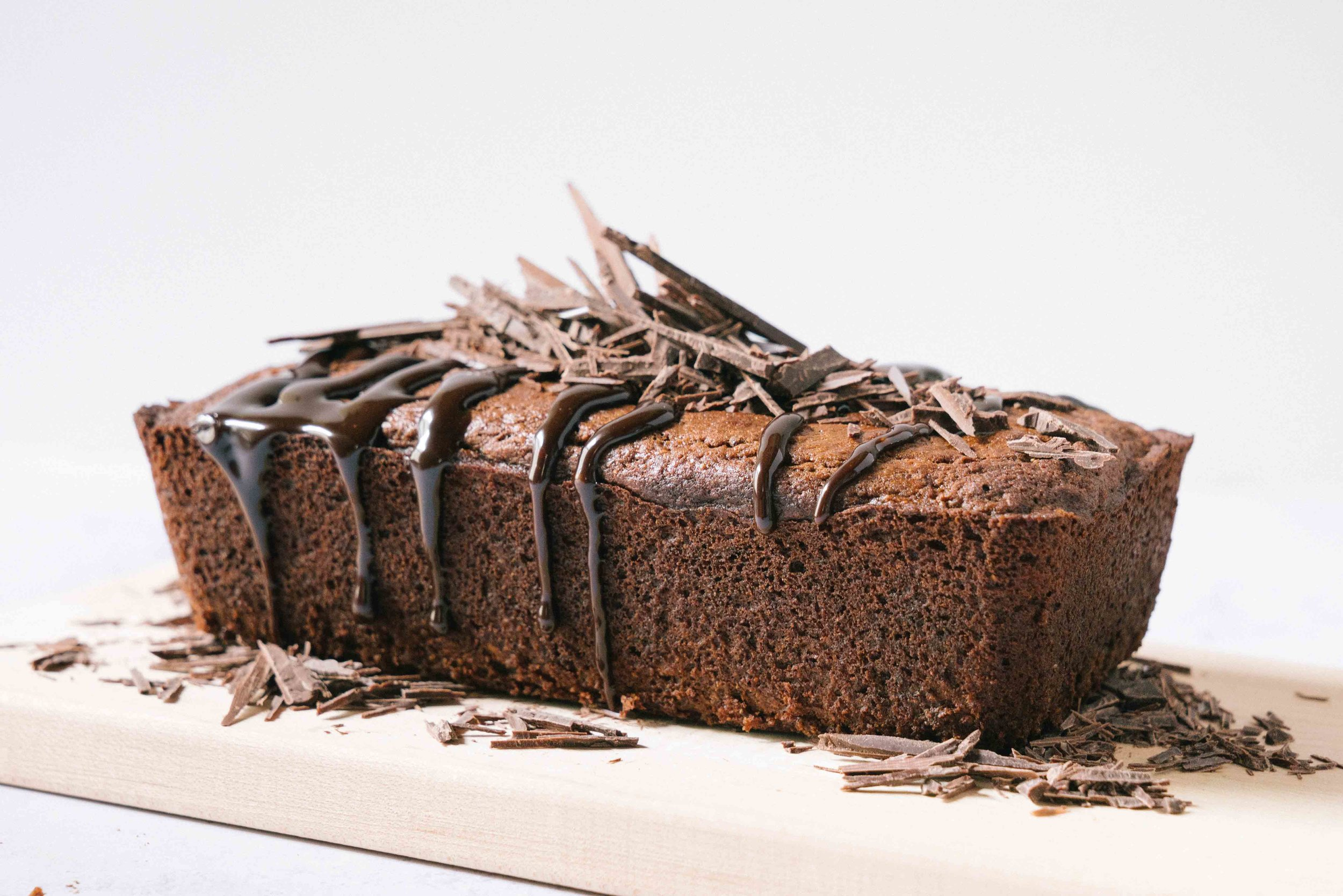 whole wheat chocolate banana bread