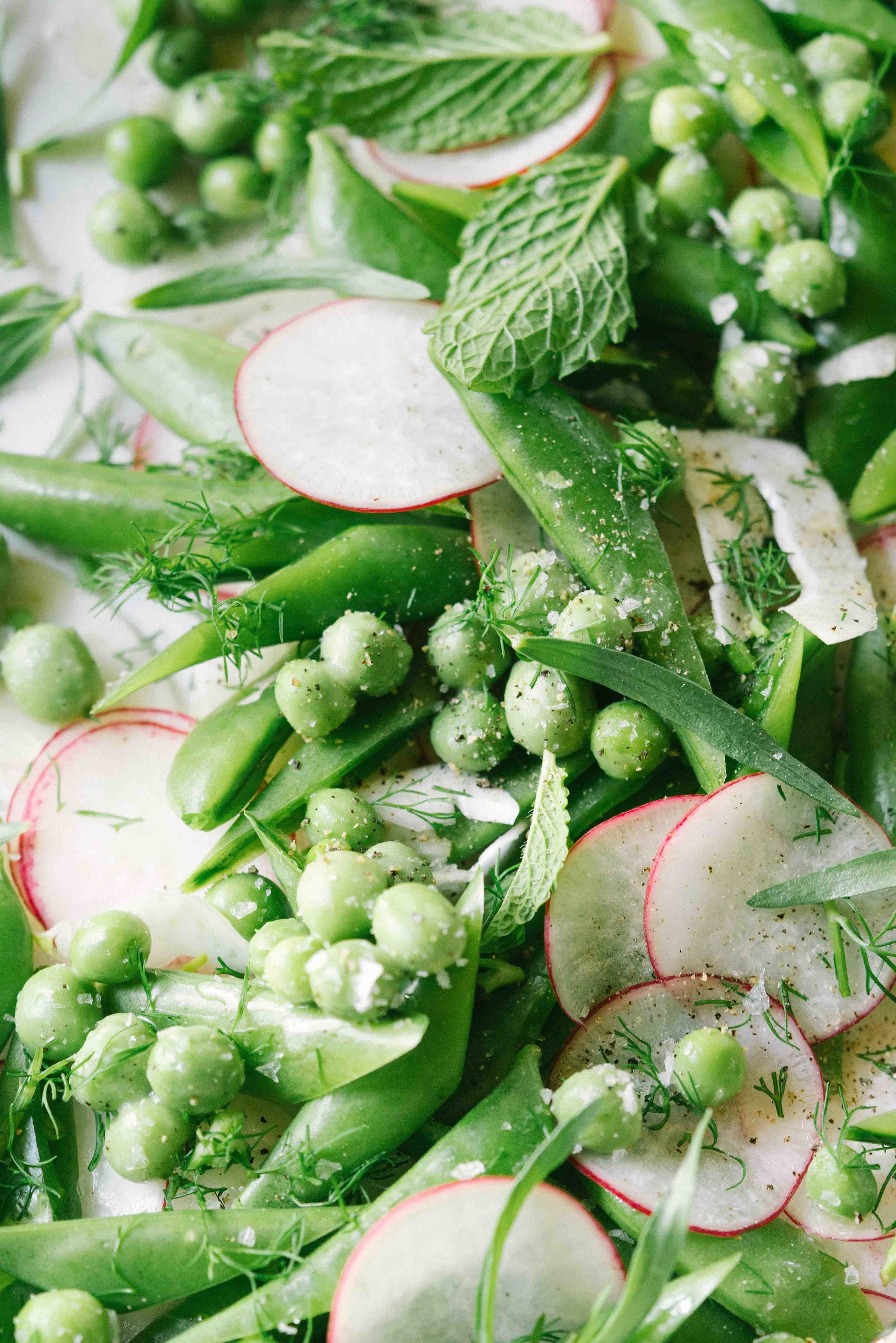brown butter pea spring snap pea salad.