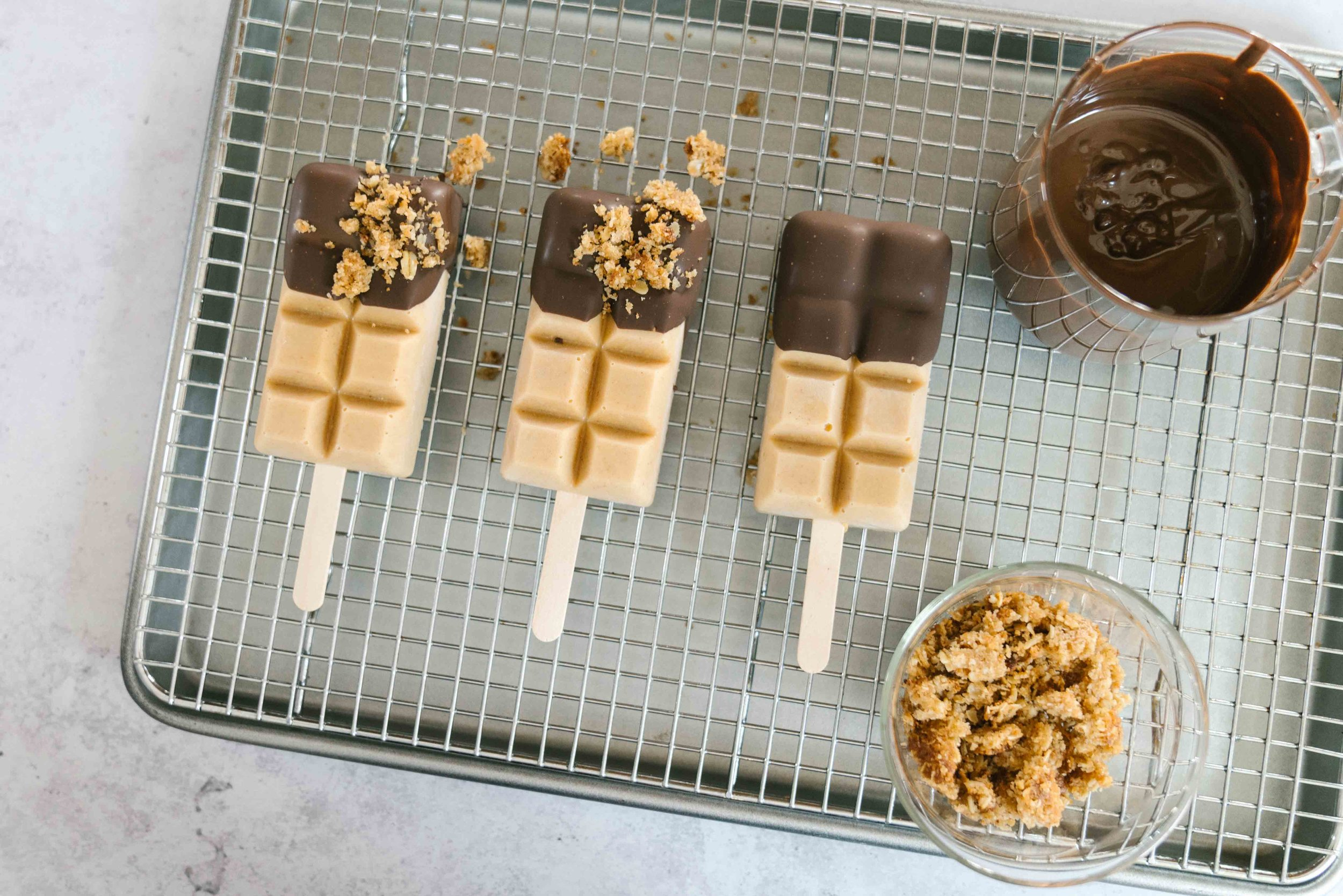 You Need These Popsicle Molds: Peanut Butter Waffle Popsicle Recipe