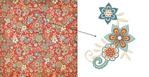 Extract a pattern from patterned paper in PSF #1