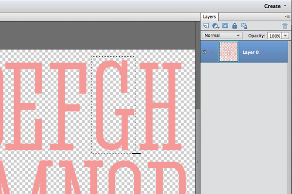 Use the Rectangular Marquee tool to create a selection. See the cross-hair cursor?