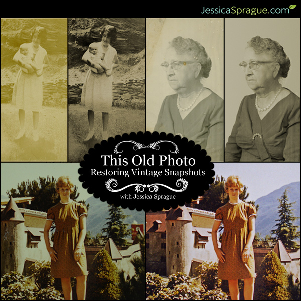 Photo restoration class by Jessica Sprague