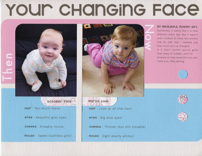 My first published layout. Creating Keepsakes, August 2005