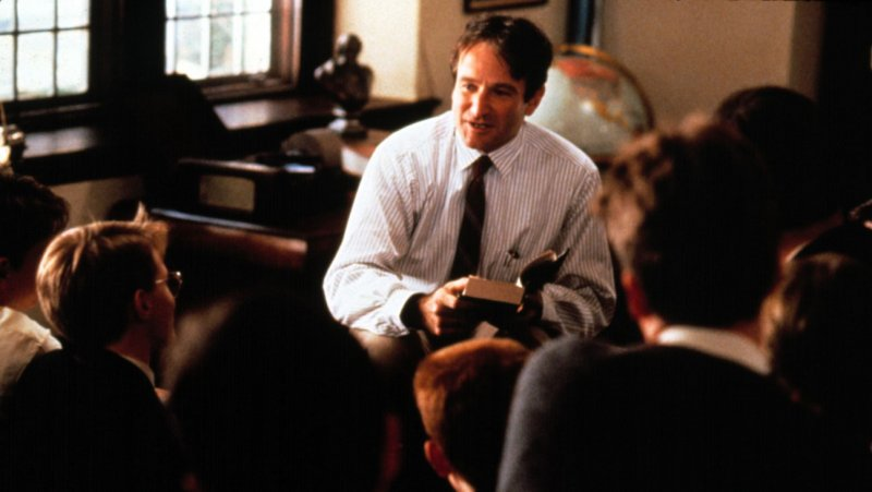 Robin Williams as Mr. Keating, Dead Poets Society