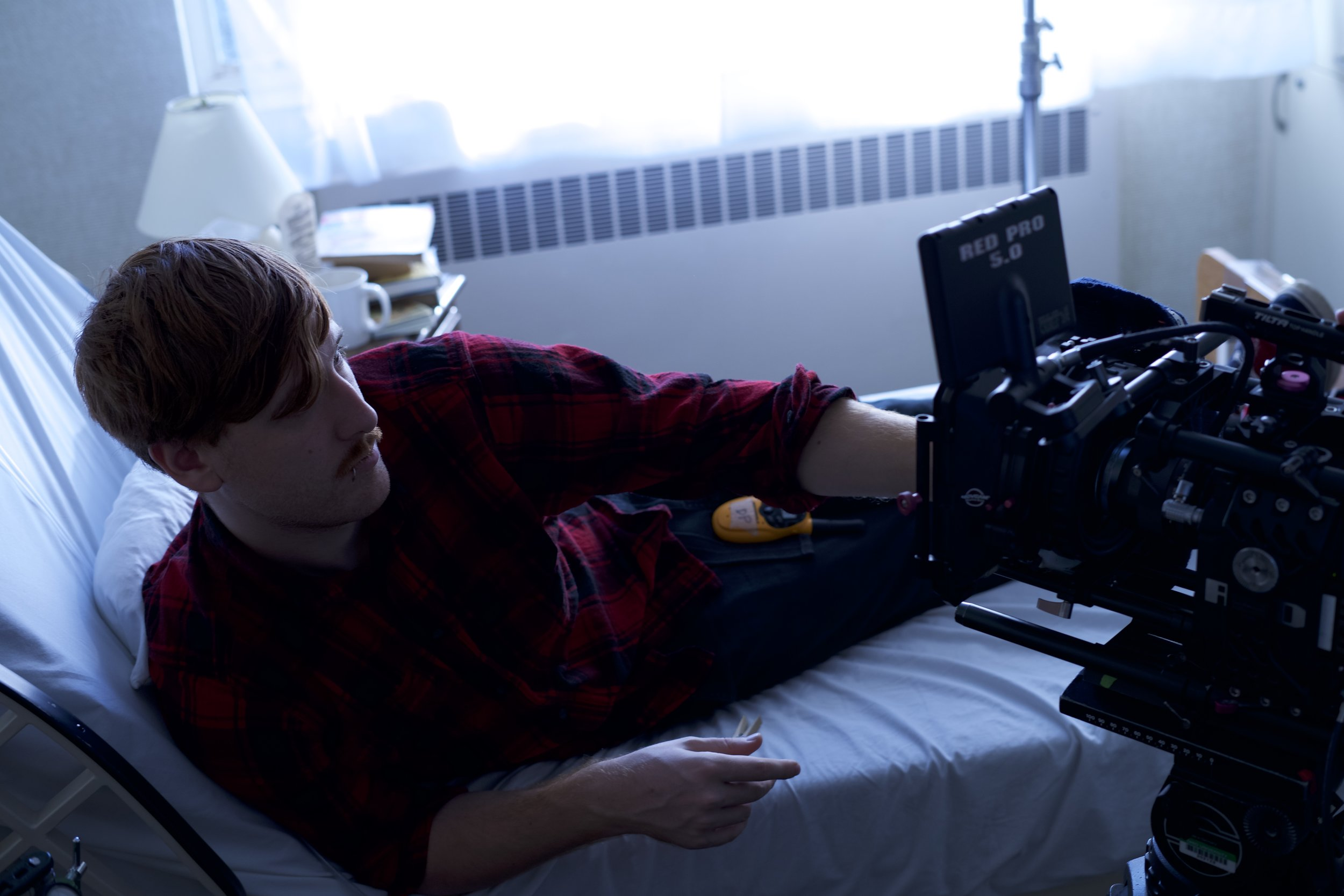 Director of Photography Jacob Midkiff on the set of Applebaum, Eddie Loupe's 2nd Year film