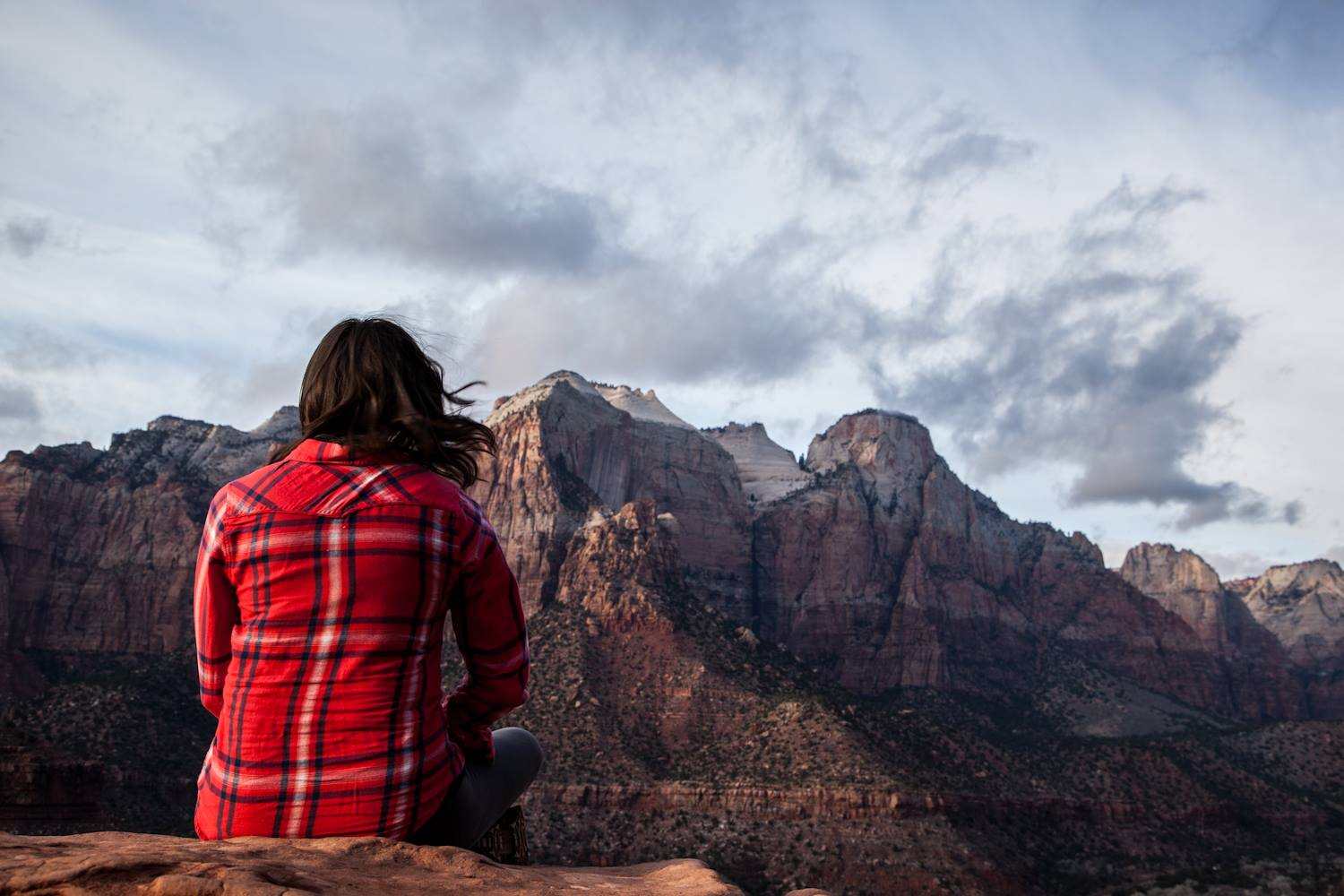 Planning to conquer mountains in Zion National Park.