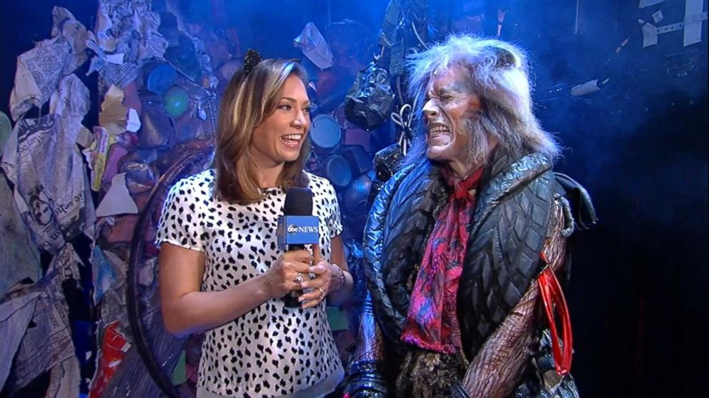 Ginger Zee & Christopher Gurr as The Great Rumpus Cat  CATS on Good Morning America