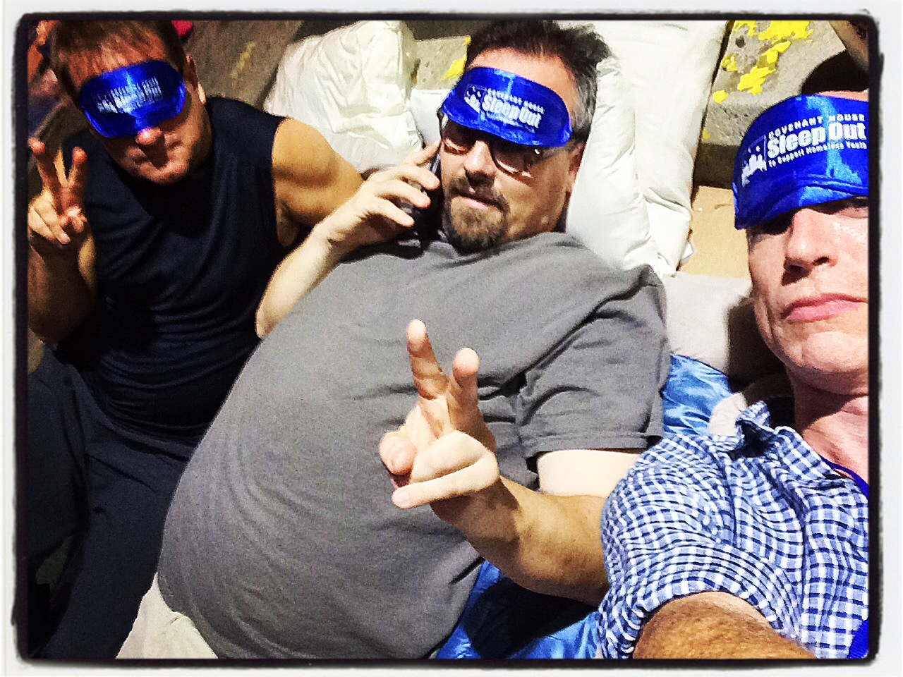 Jeff Calhoun, Tad Wilson, and Christopher Gurr Sleep Out for Covenant House