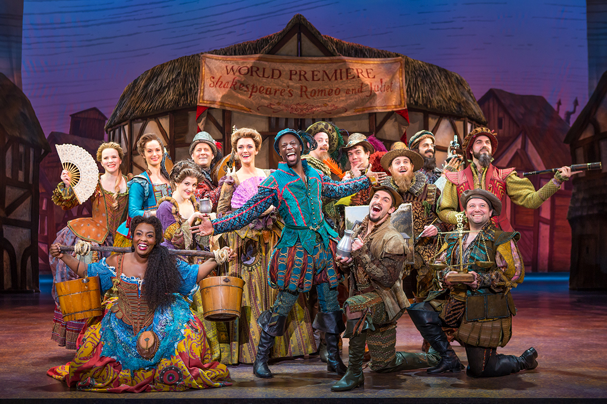 The First National touring company of  Something Rotten