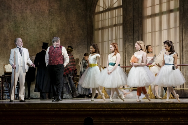 Christopher Gurr (far left) as Corbeil and the company of Marie Dancing Still at The 5th Avenue Theatre-Credit Paul Kolnik