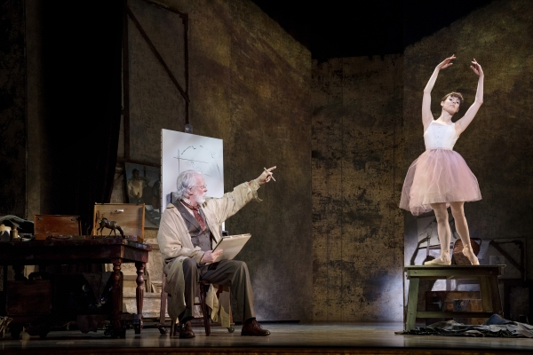 Terrence Mann as Degas and Tiler Peck as Marie
