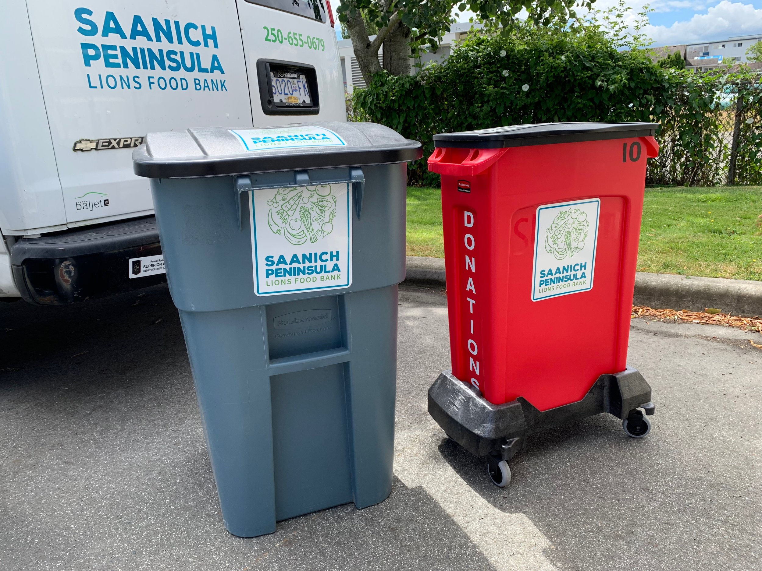 our standard donation bins for your fundraisers.