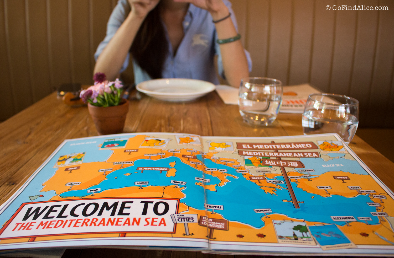 With Shanghai Girls Eats. And cute menu page!